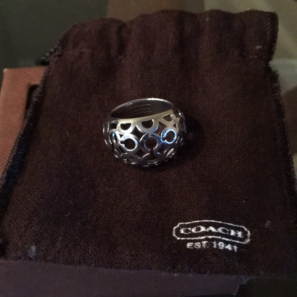 Coach Jewelry - Coach Silver Ring sz 7